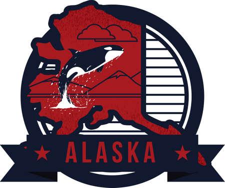 アラスカ州の地図 写真素材 - 51431601
