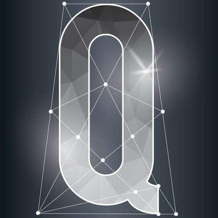q: low poly alphabet q
