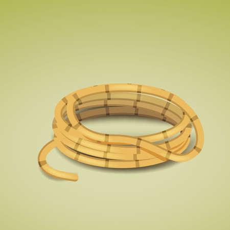 cordage: rope bundle Illustration