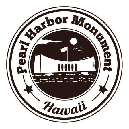 harbor: pearl harbor monument label