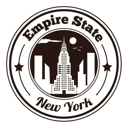 the empire state: empire state label Illustration