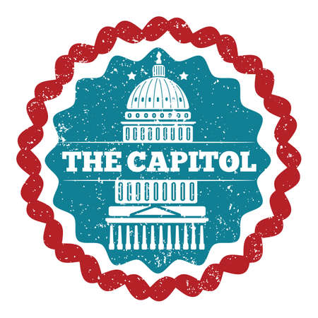 the capitol: capitol building Illustration