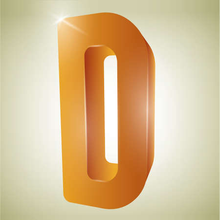 consonant: alphabet d Illustration