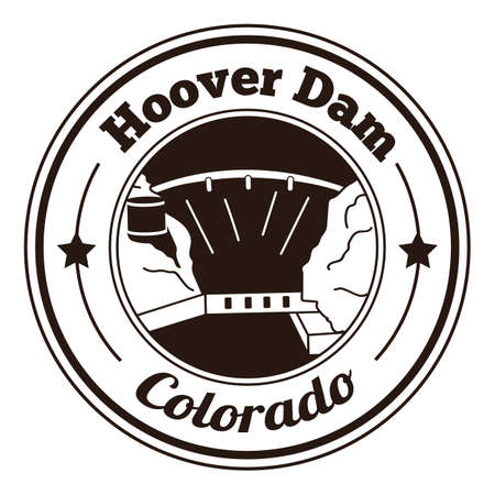 hoover: hoover dam label Illustration