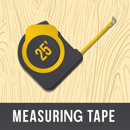 measuring tape: measuring tape Illustration