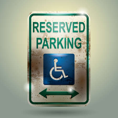 roadsigns: reserved parking sign