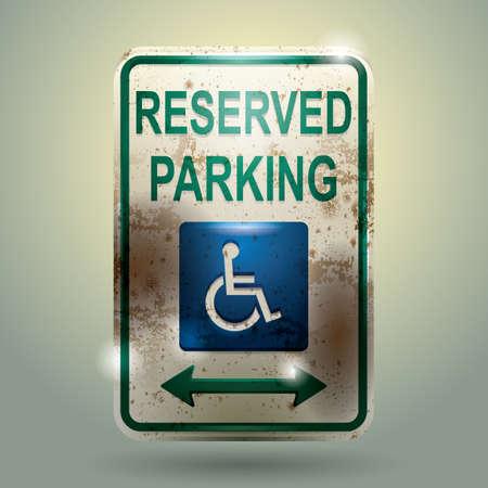 reserved sign: reserved parking sign