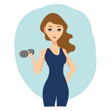 dumb: woman holding dumbbell