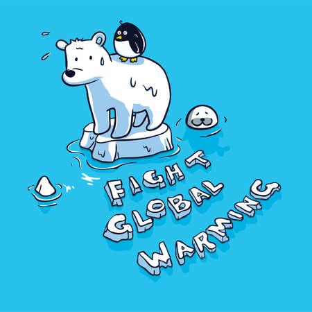 concepto de calentamiento global