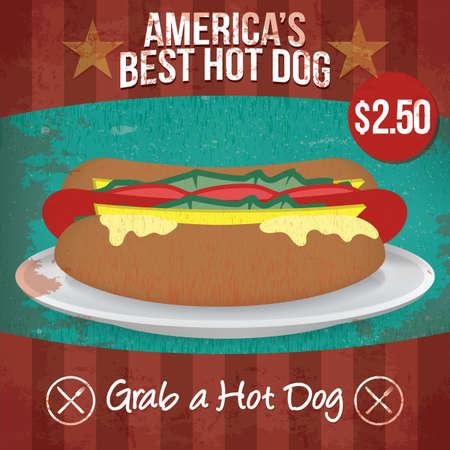 hot dog: hot dog Illustration