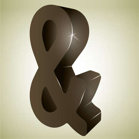 ampersand: 3d ampersand mark