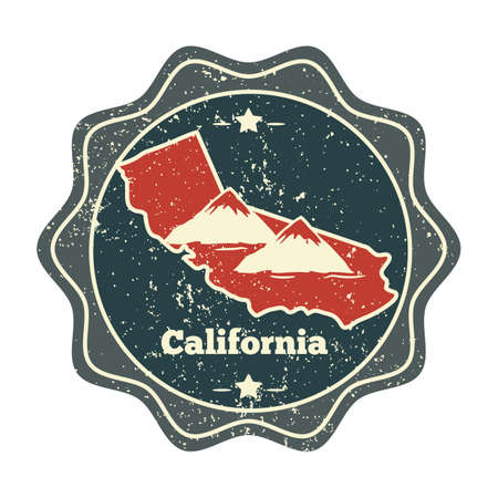 california map label