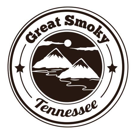 smoky mountains: great smoky label