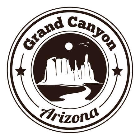 grand canyon: grand canyon label Illustration