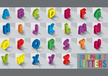letras del alfabeto 3d