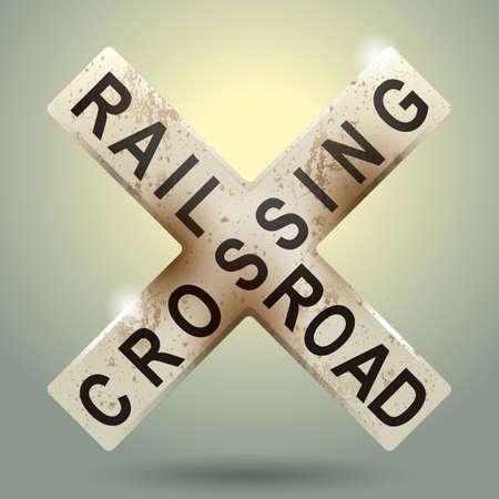 railroad crossing: railroad crossing sign
