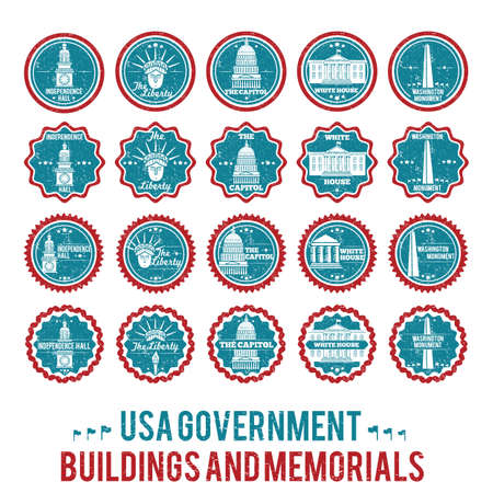 washington monument: usa government building and memorial collection Illustration