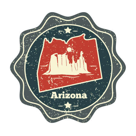 grand canyon: arizona map label