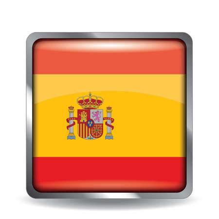 flag button: spain flag button