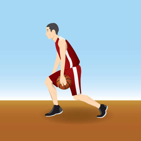 boy basketball: boy playing basketball