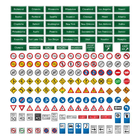 yield sign: set of us sign boards