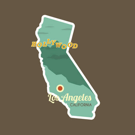 california state: map of california state Illustration