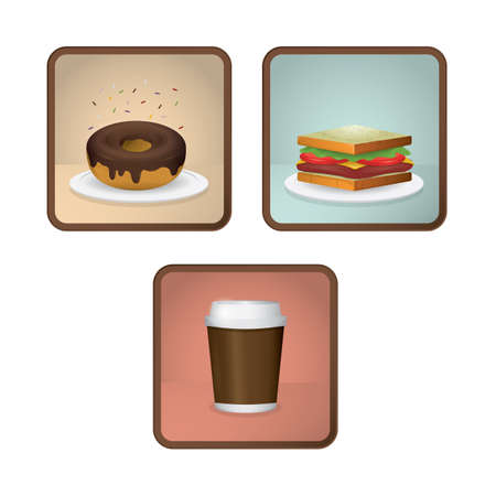 food: collection of food icons