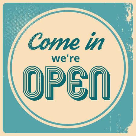 come in: come in were open wallpaper Illustration