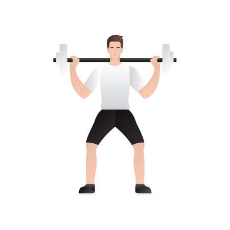 levantamiento de pesas: hombre de levantamiento de pesas Vectores