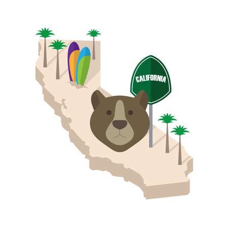 palmtrees: california Illustration
