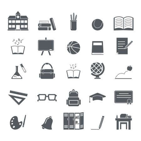 collection of education icons Illustration