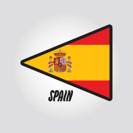 flag: spain flag Illustration