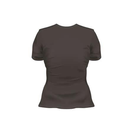 backview: womens t-shirt Illustration