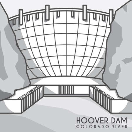 hoover dam Illustration