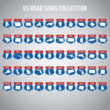 私たちは道路標識コレクション  イラスト・ベクター素材