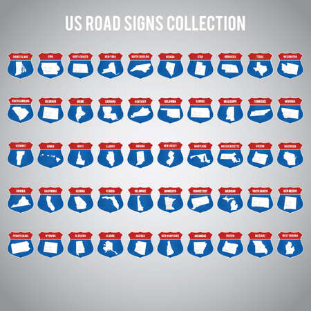 us road sign collection Фото со стока - 51361200