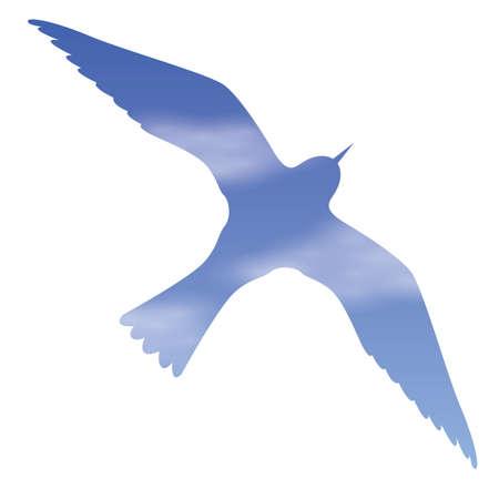 exposicion: doble exposici�n de aves y el cielo