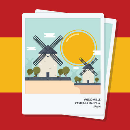windmills photographs Illustration