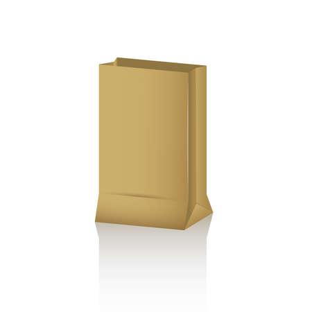 paper bag: paper bag Illustration
