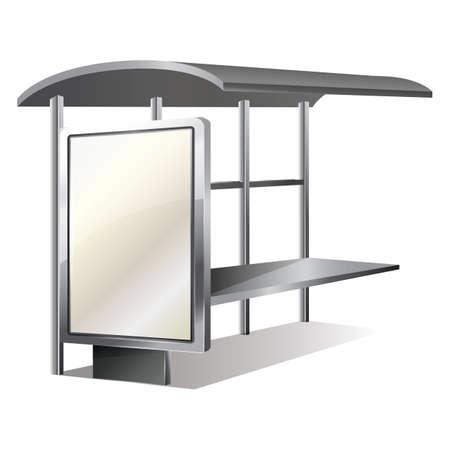 bus stop: blank bus stop billboard