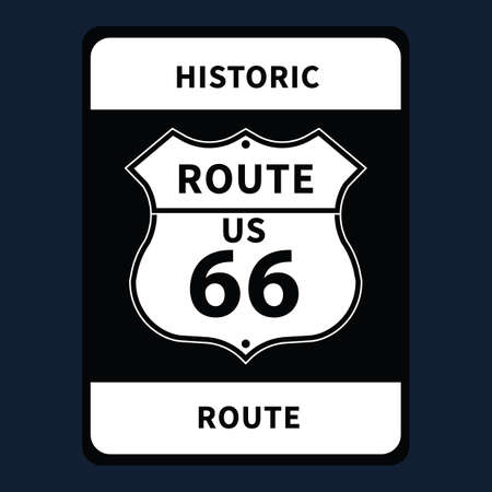 roadsigns: historic us route 66