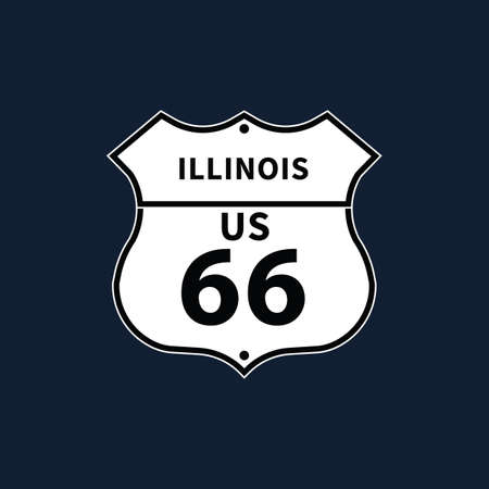 highway signs: illinois us 66