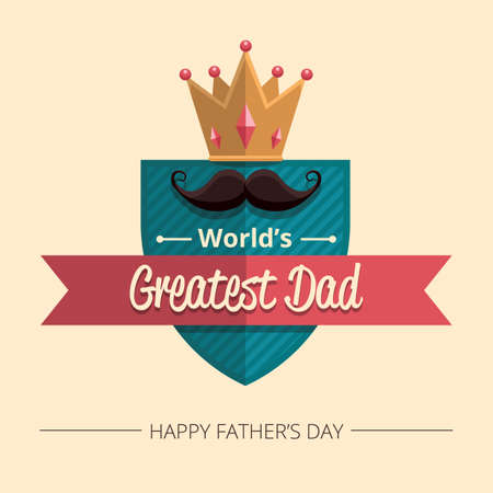 greatest: happy fathers day wallpaper Illustration