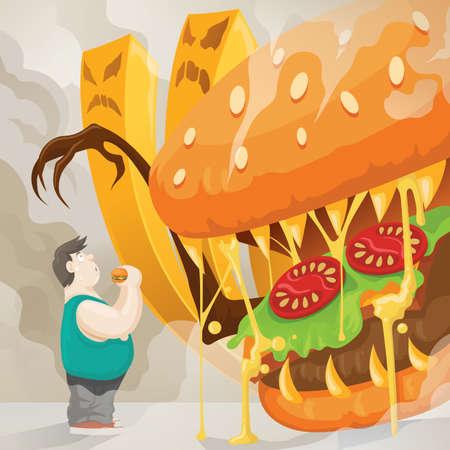 unhealthy eating: unhealthy eating concept