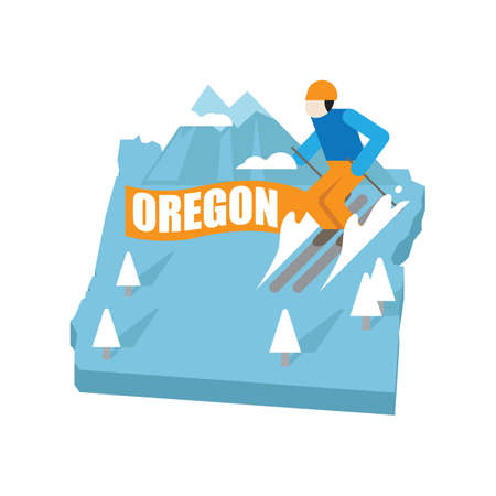 oregon: oregon Illustration