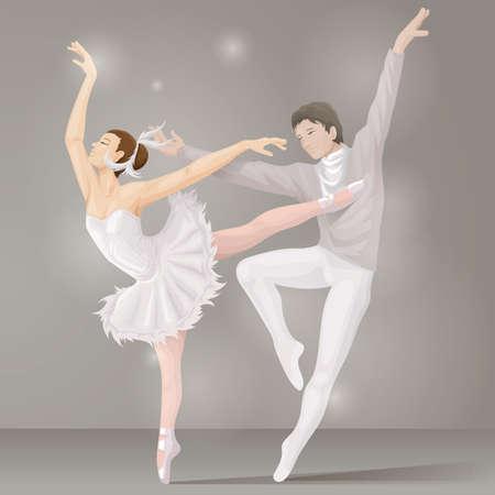 dance couple: ballet dance couple