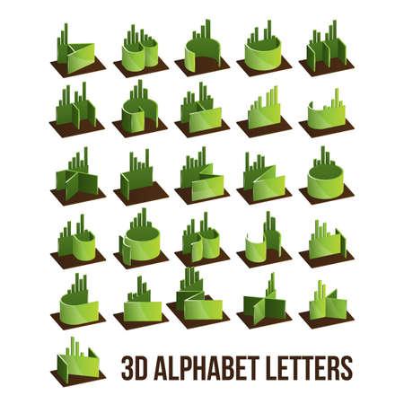 d a r e: 3d alphabet  letters