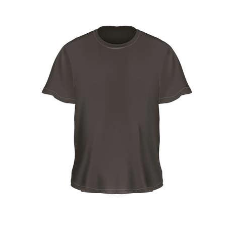 formal attire: mens t-shirt Illustration