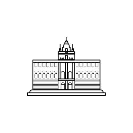 madrid: palacio real de madrid Illustration