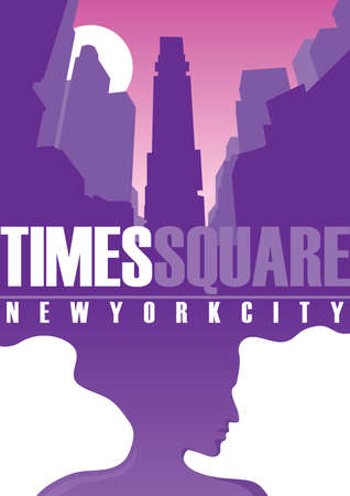 new york city times square: times square Illustration